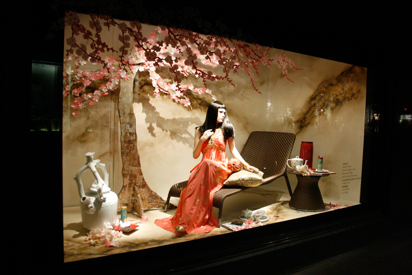 harrods cherry blossom gardens the window display blog